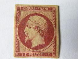 Napoleon  No 18  1 Fr Carmin  Reimpression Neuf * Signe - 1862 Napoleon III