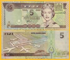 Fiji 5 Dollars P-105b 2002 UNC Banknote - Fidji