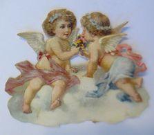 Oblaten, Engel, Wolke,   1900,    5,5 Cm X 4,5 Cm  ♥   - Victorian Die-cuts