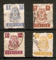 INDIA - BHOPAL 1944 - 1949 OFFICIALS VALUES TO 3a SG O350, O351, O353, O354 FINE USED Cat £32+ - Bhopal