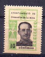 Viñeta  Ayuntamiento De Chamartin De La Rosa 10cts - Verschlussmarken Bürgerkrieg