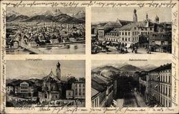 Cp Rosenheim Im Alpenvorland Oberbayern, Ludwigplatz, Bahnhofstraße, Panorama Von Der Ortschaft - Andere