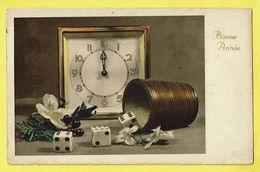 * Fantasie - Fantaisie - Fantasy * (4100/1) Bonne Année, New Year, Clock, Horloge, Dobbelsteen, Cube Dé, Dice - Nouvel An