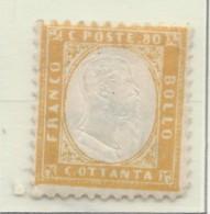Italia - 1862 - Nuovo/new MH - Vittorio Emanuele II - Sass. N. 4 - 1861-78 Vittorio Emanuele II