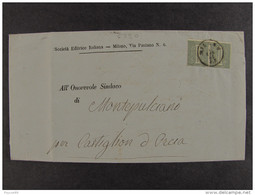 """4330 ITALIA Regno-1863- """"L 14 Londra"""" C. 1 Coppia MILANO>SAN QUIRICO D'ORCIA (descrizione) - 1861-78 Vittorio Emanuele II"""