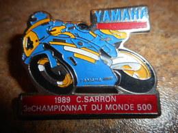 A033 -- Pin's Moto Yamaha 1989 C Sarron - Motos