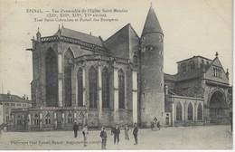 88 ( Vosges ) - EPINAL - Vue D'ensemble De L'Eglise Saint Maurice - Tour Saint Colomban Et Portail Des Bourgeois - Epinal