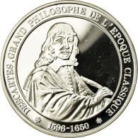 France, Médaille, Descartes, Grand Philosophe De L'Epoque Classique, FDC - France
