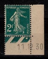 Semeuses YV 239 N** Petit Coin Daté , Tres Bien Centrée Cote 30 Euros +50% Centrage - France