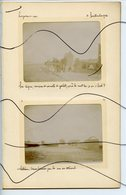 6 PHOTOS IDENTIFIÉES. CAYEUX Sur MER. Tempête Sur La Plage Septembre 1903. Digue Couverte De Galets. Cabines Renversées - Lieux