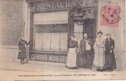 77 COULOMMIERS -Hôtel-Restaurant De La Boule D'Or-8,rue Le Valentin  ,Beau Plan Très Animé Très Rare Photo E.Clozier - Coulommiers