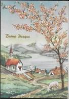BUONA PASQUA - PAESAGGIO - EDIZIONE GM - VIAGGIATA 1961  DA VILLIMPENTA - Pasqua