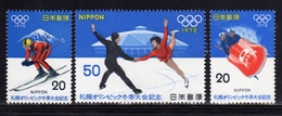 JAPAN NIPPON GIAPPONE JAPON 1972 WINTER OLYMPIC GAMES SOPPORO GIOCHI OLIMPICI INVERNALI COMPLETE SET SERIE COMPLETA MNH - 1926-89 Imperatore Hirohito (Periodo Showa)