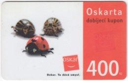 CZECH REP. D-332 Prepaid Oskar - Animal, Beetle - Used - Tchéquie