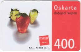 CZECH REP. D-334 Prepaid Oskar - Food, Fruit - Used - Tchéquie