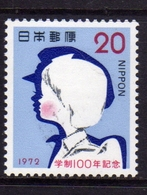 JAPAN NIPPON GIAPPONE JAPON 1972 SCHOOL CHILDREN MODERN EDUCATION SYSTEM 20y MNH - 1926-89 Imperatore Hirohito (Periodo Showa)