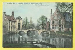 * Brugge - Bruges (West Vlaanderen) * (Edit Louis Carbonez, Nr 580) Pont Et Entrée Du Béguinage 1776, Begijnhof, Cygne - Brugge
