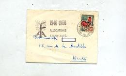 Lettre Flamme Nantes Allocaion Familiale - Marcophilie (Lettres)