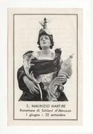 Santino Antico San Maurizio Martire Da Schiavi D'Abruzzo - Chieti - Religione & Esoterismo