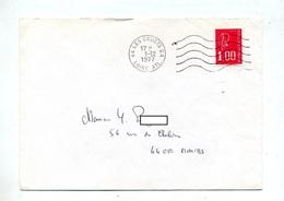 Lettre Flamme Muette Les Couets Annexe GA - Marcophilie (Lettres)