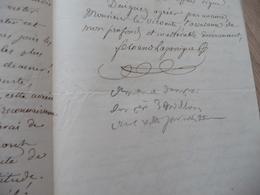 3 LAS Autographe Signée Fernand Lagarrigue Béziers Littérateur Et Journaliste à Propos De Ses Publications Demande  Dons - Autógrafos