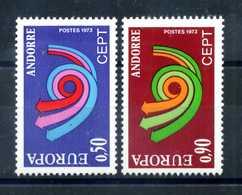 1973 ANDORRA FRANCESE SET MNH ** EUROPA - Andorra Francese
