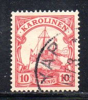 APR479 - KAROLINEN CAROLINE 1900 , Yvert N. 9 Usato  (2380A). - Colonia: Isole Caroline