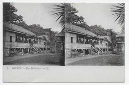 DC 1412 - TONKIN - Une Habitation - Carte Stereo - Viêt-Nam