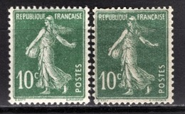FRANCE 1919/1921 -  Y.T. N° 159 X 2 NUANCES - NEUFS** - France