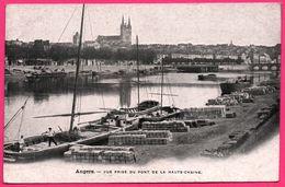 Angers - Vue Prise Du Pont De La Haute Chaine - Péniche - Port - Chargement - Animée - Edit. AUX DAMES DE FRANCE - Angers