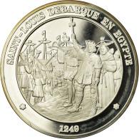 France, Médaille, Saint-Louis Débarque En Egypte, FDC, Argent - France