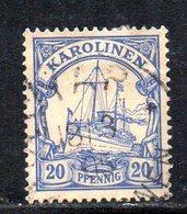 APR480 - KAROLINEN CAROLINE 1900 , Yvert N. 10 Usato  (2380A). - Colonia: Isole Caroline