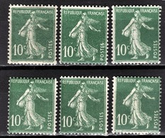 FRANCE 1919/1921 - LOT DE 6 TP / Y.T. N° 159  - NEUFS** - France