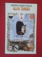 POSTAL TYPE POST CARD QSL RADIOAFICIONADOS RADIO AMATEUR GRUPPO ITALIA ALFA TANGO CITTÁ DI MONTALCINO TOSCANA ITALY VER - Sin Clasificación