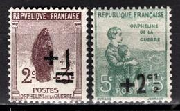 FRANCE 1922 / 1926 -  Y.T. N° 162 ET 163 - NEUFS** - France