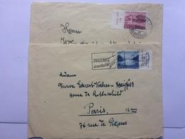 SWITZERLAND 1958 X 2 Covers Tied With Pro Patria 1952 Stamps One With Zivilschutz Slogan Postmark To Paris And Burgdorf - Switzerland