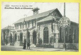 * Brussel - Bruxelles - Brussels * (V.P.F. - Préaux Frères à Ghlin) Exposition Expo 1910 Pavillon Moët Chandon Champagne - Wereldtentoonstellingen