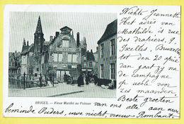 * Brugge - Bruges (West Vlaanderen) * (VED) Vieux Marché Au Poisson, Oude Vismarkt, Quai, Mestdach De Backer, Animée - Brugge