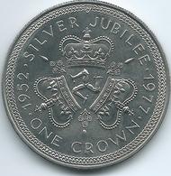 Isle Of Man - Elizabeth II - 1977 - Crown - Silver Jubilee - KM41 - Regional Coins