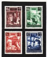LKA600 ÖSTERREICH 1951 ANK  977/80 MICHL  960/63 ** Postfrisch SIEHE ABBILDUNG - 1945-60 Ungebraucht