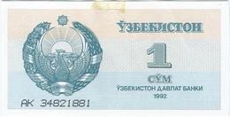 Uzbekistán 1 Som 1992 Pk 61 A Ref 2 - Uzbekistán
