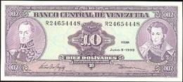 Venezuela 10 Bolívares 5-6-1995 Pk 61 D UNC - Venezuela