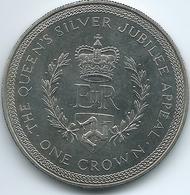Isle Of Man - Elizabeth II - 1977 - Crown - Silver Jubilee Appeal - KM42 - Regionale Währungen