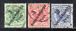 APR491 - Ostafrika Africa Orientale 1896 , Tre Valori Usati   (2380A). - Colonia: Africa Orientale