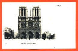 """CPA 75 Paris """" Façade Notre Dame  """" Carte Precurseur - Notre Dame De Paris"""
