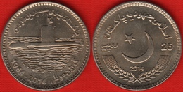 "Pakistan 25 Rupees 2014 Km#73 ""Navy Submarine Force"" UNC - Pakistan"