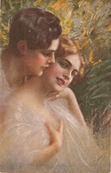 """Couple.Romance"" Lovely Antique Italian Postcard - Parejas"