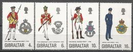 GIB 1974 MILITARIA, GIBRALTAR, 1 X 4v, MNH - Militaria