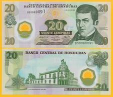 Honduras 20 Lempiras P-95(2) 2008 UNC Polymer Banknote - Honduras