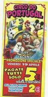 BIGLIETTO  CIRCO  DO  PORTUGAL    GOT  TALENT   PASQUA  A  LUINO  LAGO  MAGGIORE - Circo